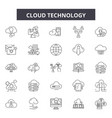 cloud technology line icons signs set vector image vector image