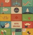collection retro holidays cards vector image vector image