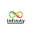 colorful abstract infinity logo vector image vector image