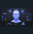 concept face scanning accurate facial vector image