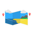 delivery icon with pin pointer on map vector image vector image