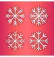 Design set of snowflakes vector image vector image