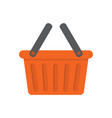 empty shopping basket isolated on white background vector image