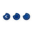 european union euro eu icons stickers set vector image