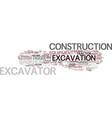 excavation word cloud concept vector image vector image