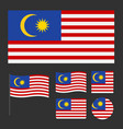 flag of malaysia with various proportions and vector image vector image