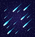 Flying meteors vector image vector image