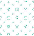game icons pattern seamless white background vector image vector image