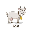 Goat animal cartoon for children vector image