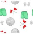 Golf equipment pattern cartoon style vector image