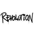 graffiti revolution word sprayed isolated on vector image