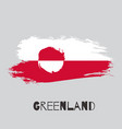 greenland watercolor national country flag icon vector image