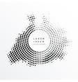 halftone abstract circular frame design vector image