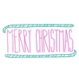 Hand drawn Merry Christmas doodle typography vector image