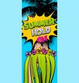 hawaii woman pop art comic book background vector image vector image