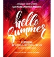Hello Summer Party Flyer Design vector image vector image