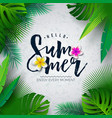 hello summer with typography vector image vector image