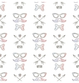 Hipster seamless pattern with mustaches and arrows vector image
