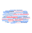 Insurance Word cloud vector image vector image