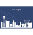 Las Vegas city skyline silhouette on blue backgrou vector image vector image