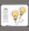 light bulb icons with concept idea vector image