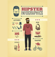 light hipster fashion infographic template vector image