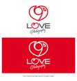 love photography logo design minimal camera icon vector image