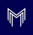 m initial logo vector image vector image