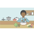 Man cooking meal vector image