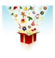 merry christmas gift - box vector image