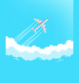 modern aircraft flying in a sky travel concept vector image