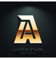 Modern of Gold Letter A vector image