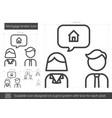 mortgage broker line icon vector image