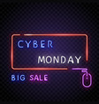 neon frame cyber monday vector image