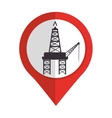 oil industry plant isolated icon vector image