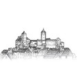 old city downtown view medieval european castle vector image vector image