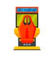 retro racing car arcade game machine video gaming vector image