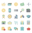 Sales and shopping flat icons set vector image vector image