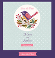 Save the date with bird vector image vector image