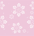 seamless geometric pattern flower on pink vector image vector image