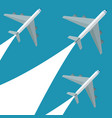 set airplane flying design vector image