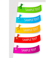 set of color tags vector image vector image