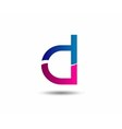 Sign of the letter D Branding Identity Corporate l vector image