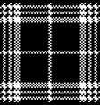 simple dark fabric check black white seamless vector image