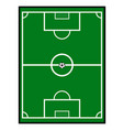 soccer field with a ball vector image vector image