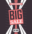 social media big sale banner vector image vector image