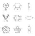 soft skin icons set outline style vector image vector image