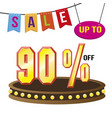 special 90 offer sale tag isolated vector image vector image