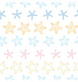 starfish colorful line art frame seamless pattern vector image vector image