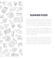 summer food banner template with place for text vector image vector image
